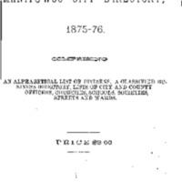 1875-1876 Manitowoc City Directory